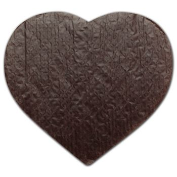 White/Brown Heart Candy Pads, 9 1/8 x 7 1/2