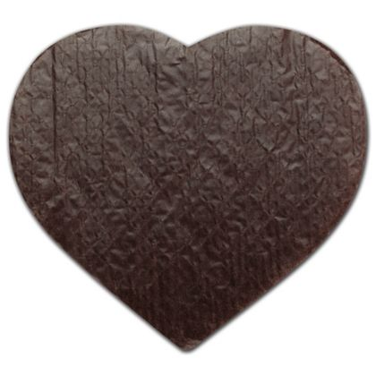 White/Brown Heart Candy Pads, 9 1/8 x 7 1/2""