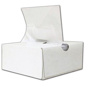 "White High Touch Tissue Paper, 6 x 10 3/4"""