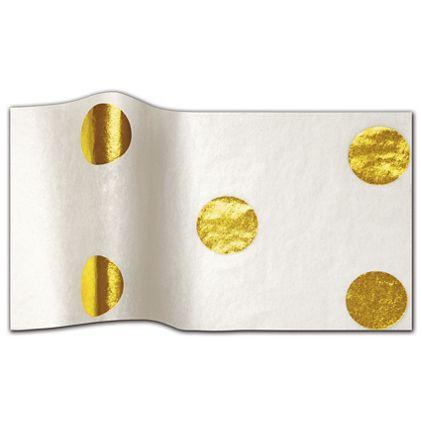 "Gold Hot Spots Tissue Paper, 20 x 30"""