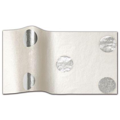"Silver Hot Spots Tissue Paper, 20 x 30"""