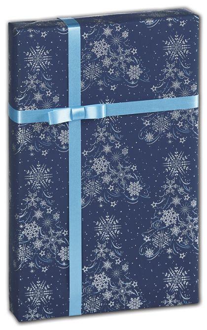 "Lacy Flakes Gift Wrap, 24"" x 417'"