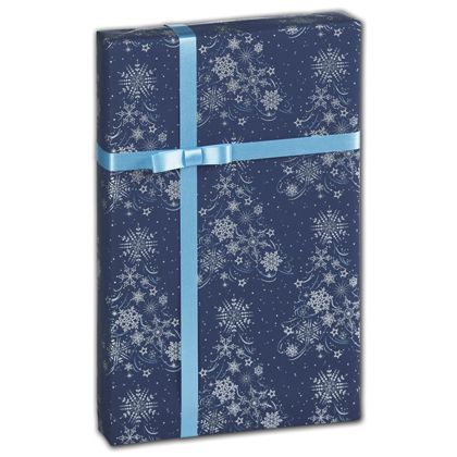"Lacy Flakes Gift Wrap, 24"" x 417'"