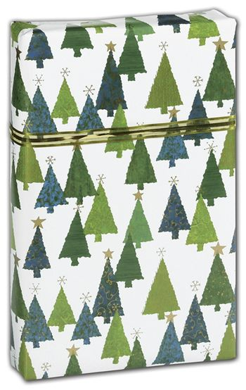 Christmas Trees Gift Wrap, 24