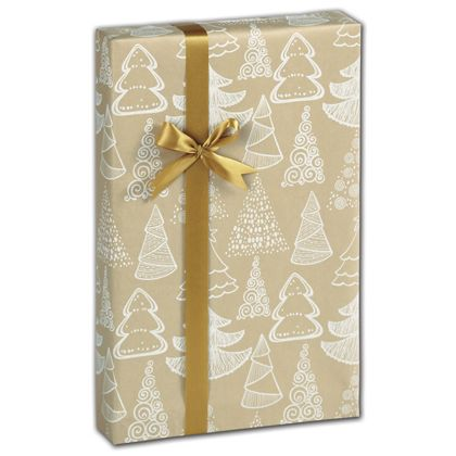 "Chalky Trees Kraft Gift Wrap, 24"" x 417'"