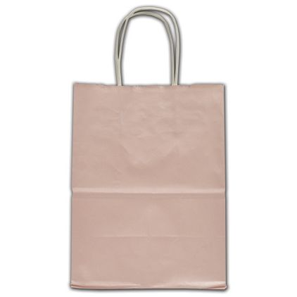 """Light Pink Ice Shoppers, 8 x 4 3/4 x 10 1/2"""""""
