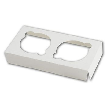 White Insert for Windowed Cupcake Gable Boxes, 2 Cupcakes