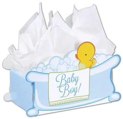 Baby Boy Bubbles Intricut Basket Boxes, 11 5/16x6x7 3/4""