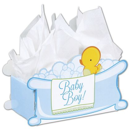 """Baby Boy Bubbles Intricut Basket Boxes, 11 5/16x6x7 3/4"""""""