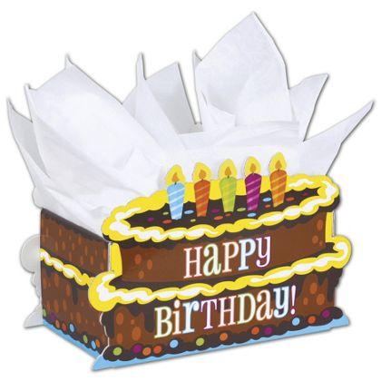 "Birthday Cake Intricut Basket Boxes, 11 5/16 x 6 x 7 3/4"""