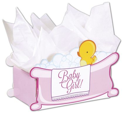 Baby Girl Bubbles Intricut Basket Boxes, 11 5/16x6x7 3/4""
