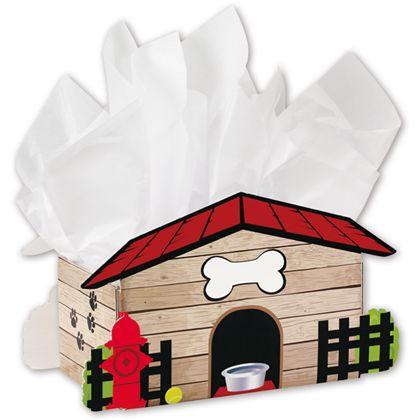 "Dog House Intricut Basket Boxes, 13 1/8 x 6 x 7 1/2"""