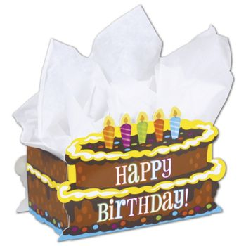 Birthday Cake Intricut Basket Boxes, 7 7/8 x 4 1/4 x 5 3/8