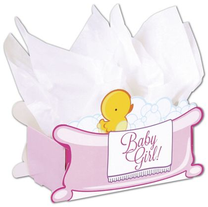 Baby Girl Bubbles Intricut Basket Boxes, 7 7/8x4 1/4x5 3/8