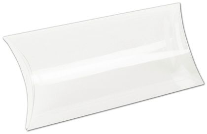 Clear Pillow Boxes, 9 x 4 1/4 x 1 1/4""