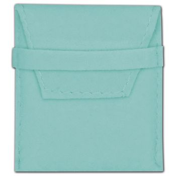 Blue Velvet Flap Over Pouches, 2 x 2 1/2""