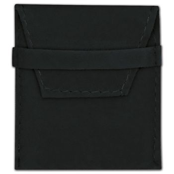 Black Velvet Flap Over Pouches, 2 x 2 1/2