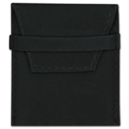 Black Velvet Flap Over Pouches, 2 x 2 1/2""