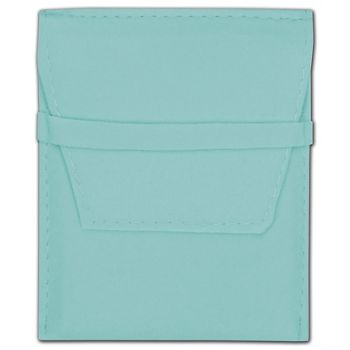 Blue Velvet Flap Over Pouches, 3 1/4 x 3 1/4