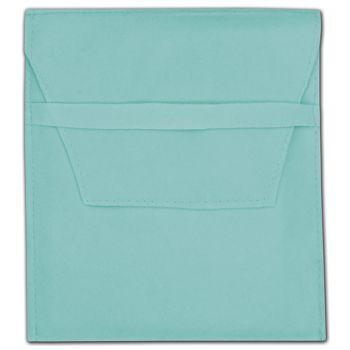 Blue Velvet Flap Over Pouches, 5 x 6