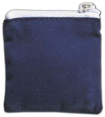 Blue Velvet Zipper Pouches, 2 1/2 x 2 1/2
