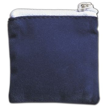 Blue Velvet Zipper Pouches, 2 1/2 x 2 1/2""