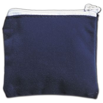 Blue Velvet Zipper Pouches, 3 1/2 x 3""