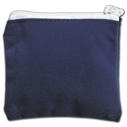 "Blue Velvet Zipper Pouches, 3 1/2 x 3"""