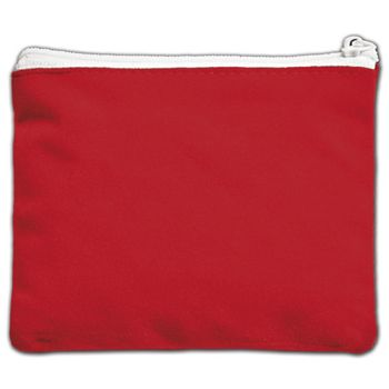 Red Velvet Zipper Pouches, 5 x 4