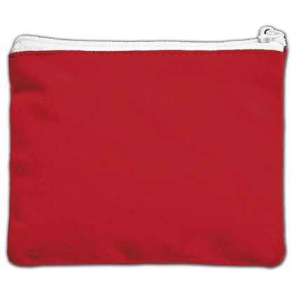 Red Velvet Zipper Pouches, 5 x 4""