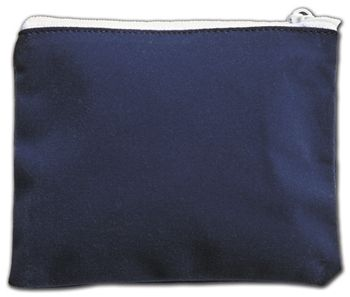 Blue Velvet Zipper Pouches, 5 x 4