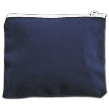 Blue Velvet Zipper Pouches, 5 x 4""