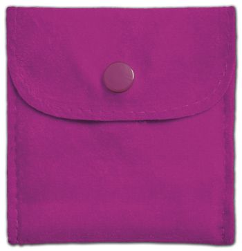 Roseberry Velvet Snap Button Pouches, 3 x 3