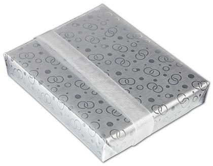 """Elegant Rings Jeweler's Roll Gift Wrap, 7 3/8"""" x 150'"""