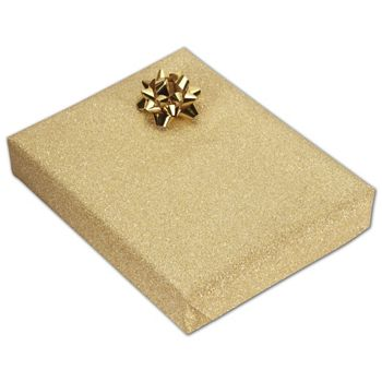 Gold Stardust Jeweler's Roll Gift Wrap, 7 3/8