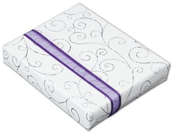 Swirly Curls Jeweler's Roll Gift Wrap, 7 3/8