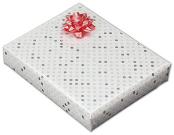 Sterling Dots Jeweler's Roll Gift Wrap, 7 3/8
