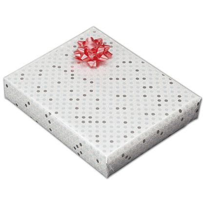 """Sterling Dots Jeweler's Roll Gift Wrap, 7 3/8"""" x 150'"""