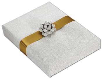 Silver Stardust Jeweler's Roll Gift Wrap, 7 3/8