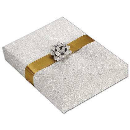 "Silver Stardust Jeweler's Roll Gift Wrap, 7 3/8"" x 150'"