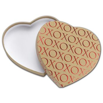 Kraft XO Heart Candy Boxes, 6 3/8 x 5 1/2 x 1 1/8