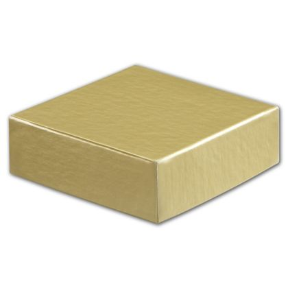 "Gold Hi-Wall Gift Box Lids, 4 x 4"""