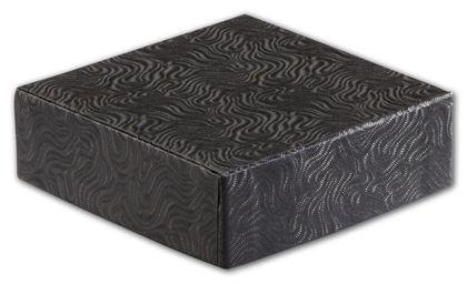 """Black Swirl Hi-Wall Gift Box Lids, 4 x 4"""""""