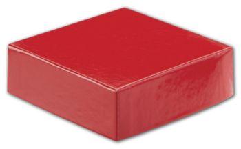 Red Hi-Wall Gift Box Lids, 4 x 4
