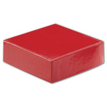Red Hi-Wall Gift Box Lids, 4 x 4