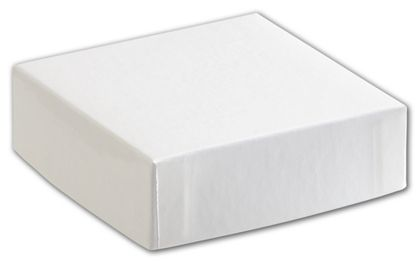 "White Hi-Wall Gift Box Lids, 4 x 4"""