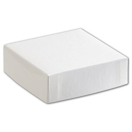 White Hi-Wall Gift Box Lids, 4 x 4""