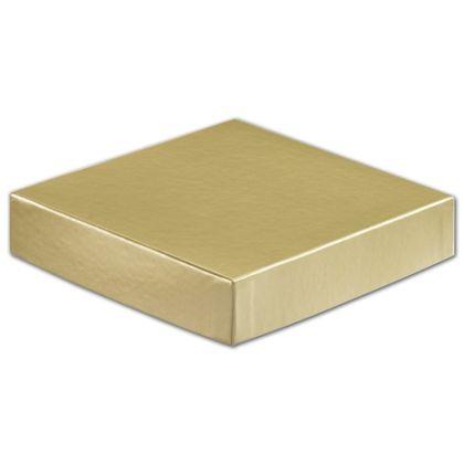 "Gold Hi-Wall Gift Box Lids, 6 x 6"""