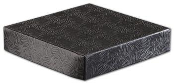 Black Swirl Hi-Wall Gift Box Lids, 6 x 6