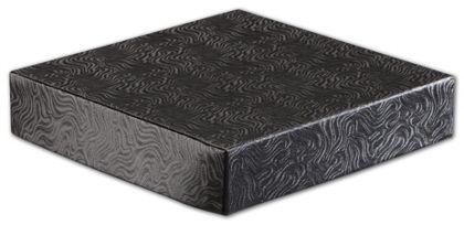 """Black Swirl Hi-Wall Gift Box Lids, 6 x 6"""""""